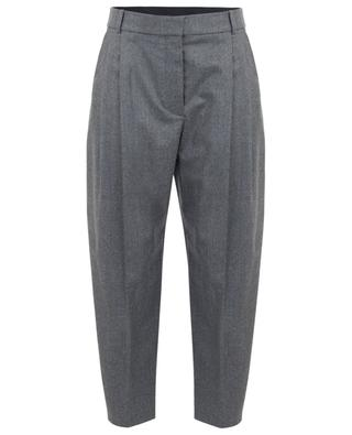 Cropped wool flannel carrot trousers STELLA MCCARTNEY