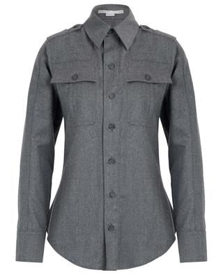 Patch pocket shirt in wool flannel STELLA MCCARTNEY