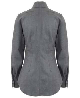 Patch pocket shirt in wool flannel STELLA MCCARTNEY