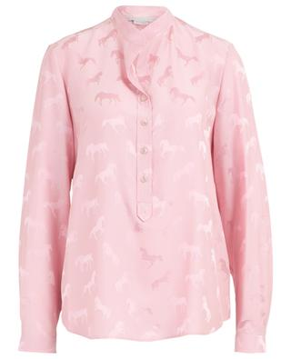 Horse jacquard viscose and silk blouse STELLA MCCARTNEY