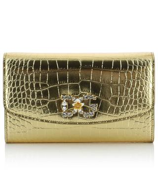 DG Crystal metallic croc effect mini shoulder bag DOLCE & GABBANA