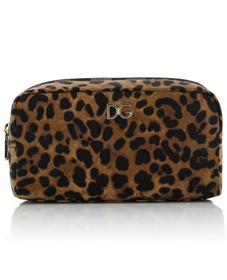 DG small leopard print fabric toiletry case DOLCE & GABBANA