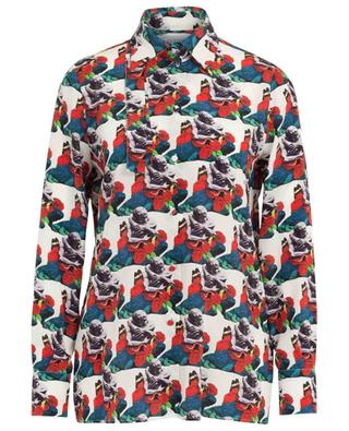 Bedrucktes Hemd mit Schluppe Lovers Pattern Undercover VALENTINO