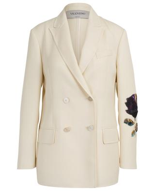 Undercover flower adorned virgin wool blazer VALENTINO