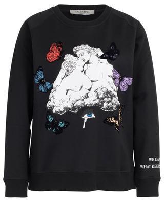 Oversize-Sweatshirt mit Wolkenprint Undercover VALENTINO