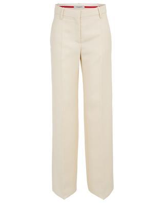 Virgin wool twill wide-leg trousers VALENTINO