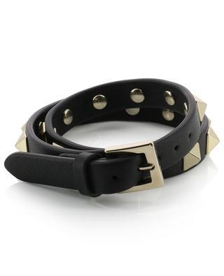 Doppeltes Armband aus Leder Rockstud VALENTINO