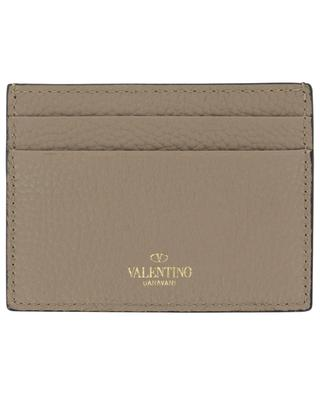 Rockstud grained leather card holder VALENTINO