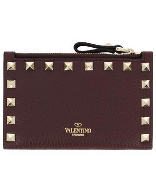 Brieftasche und Kartenetui aus Leder Rockstud VALENTINO