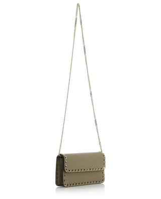 Rockstud grained leather chain wallet VALENTINO