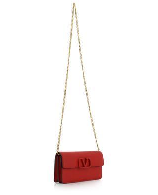 Brieftasche aus texturiertem Leder mit Kettengurt VLOGO VALENTINO