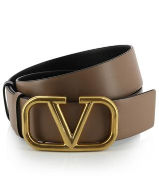 VLOGO brown and black reversible belt VALENTINO