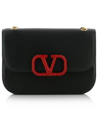 VSLING mini leather shoulder bag with snakeskin detail VALENTINO