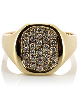 Goldring mit Diamanten Chevalière Mademoiselle GBYG