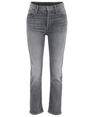 Ausgewaschene Slim-Jeans The Looker Ankle Fray MOTHER