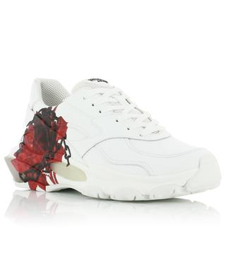 Baskets en cuir imprimé de roses Bounce Undercover VALENTINO