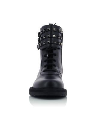Rockstud leather combat boots VALENTINO