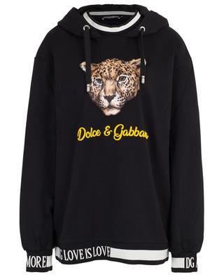 DG Logo is Love oversized leopard adorned sweatshirt DOLCE & GABBANA
