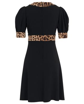 Dress with balloon sleeves and leopard print DOLCE & GABBANA