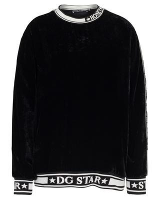 Logo velvet sweatshirt DOLCE & GABBANA