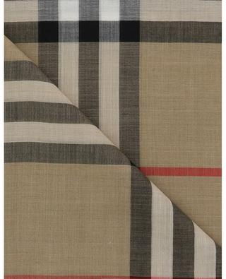 Giant Check Gauze thin checked scarf BURBERRY