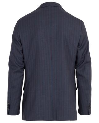 Textured wool striped suit CARUSO