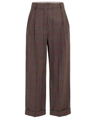 Street sparkling checked wide-leg trousers MAXMARA STUDIO