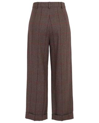 Pantalon large à carreaux scintillants Street MAXMARA STUDIO