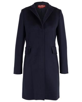 Marengo straight wool coat with stand-up collar MAXMARA STUDIO