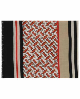 TB Monogram Gauze lightweight square shawl BURBERRY