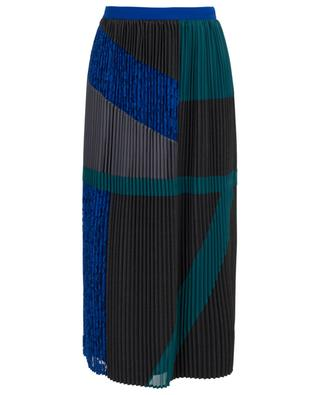 Vik pleated patchwork effect skirt WEEKEND MAXMARA