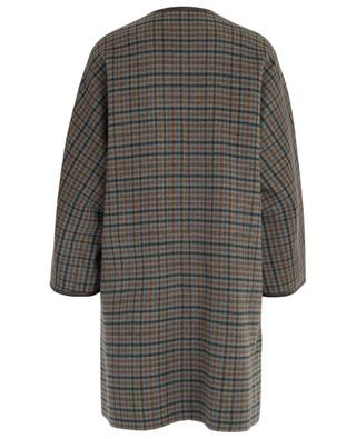 Manteau à carreaux en laine et cuir Pareo WEEKEND MAXMARA