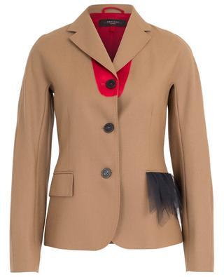 Mambo virgin wool blazer with tulle detail WEEKEND MAXMARA