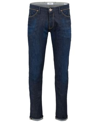 Indigo-gefärbte Super-Slim-Fit-Jeans Swing PT05
