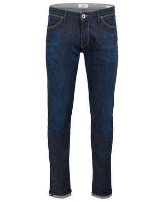 Indigo-gefärbte Super-Slim-Fit-Jeans Swing PT05
