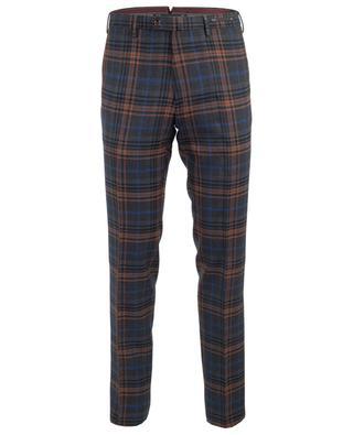Pantalon à carreaux en laine vierge PT01