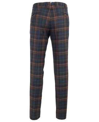 Virgin wool check trousers PT01