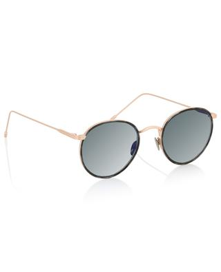 Harvey Sun pink golden tortoise detail sunglasses EDWARDSON