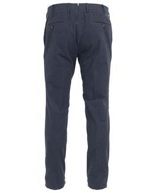 Pantalon slim en coton à carreaux PT01