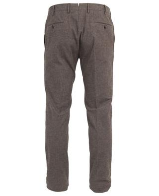 Pantalon slim en coton à carreaux PT01