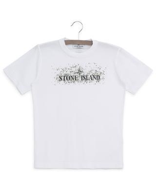T-Shirt aus Baumwolle mit Print STONE ISLAND