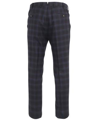 Slim fit virgin wool check trousers PT01