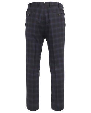 Slim fit virgin wool check trousers PT01