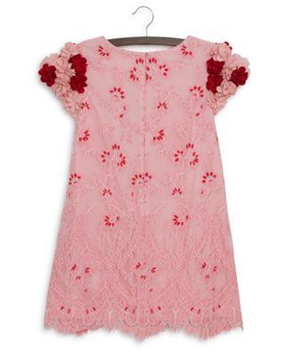 Elisa flower embellished lace dress CHARABIA