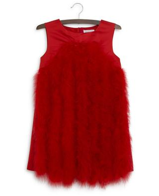 Special Occasion feather boa embellished dress CHARABIA