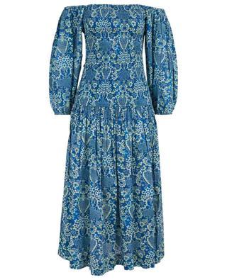Harper long smocked floral dress RHODE RESORT