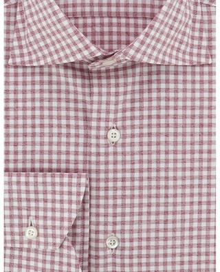 Soft cotton shirt with gingham checks BRULI