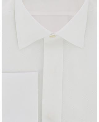Tuxedo shirt with diamond textured bib BRULI
