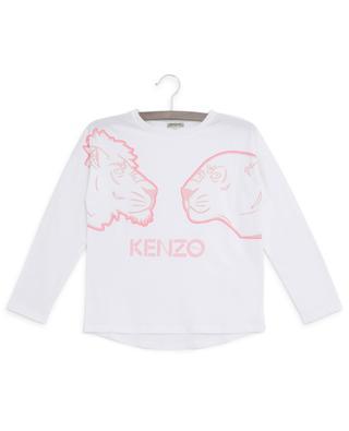 Langärmliges T-Shirt aus Baumwolle mit Print Crazy Jungle KENZO