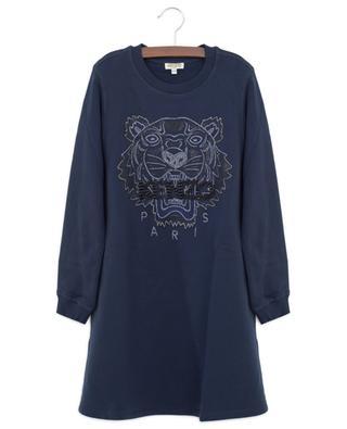 Tiger sequin embroidered flared sweat dress KENZO